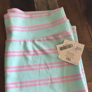 Pink and mint skirt